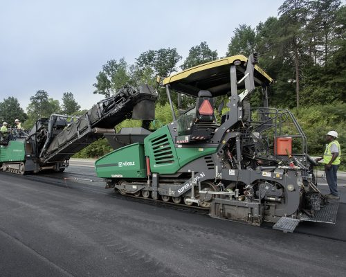 freza si finisor asfalt